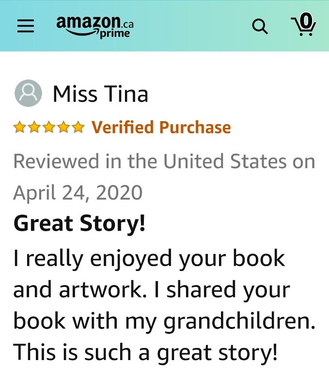 Amazon Customer Book Review from Miss Tina