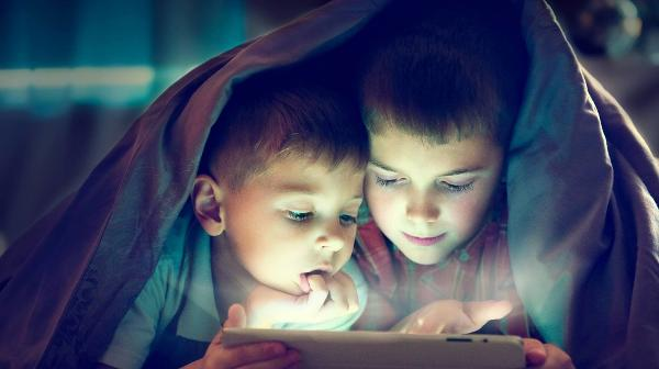 Two Boys Reading Night Time Bedtime eBook Online
