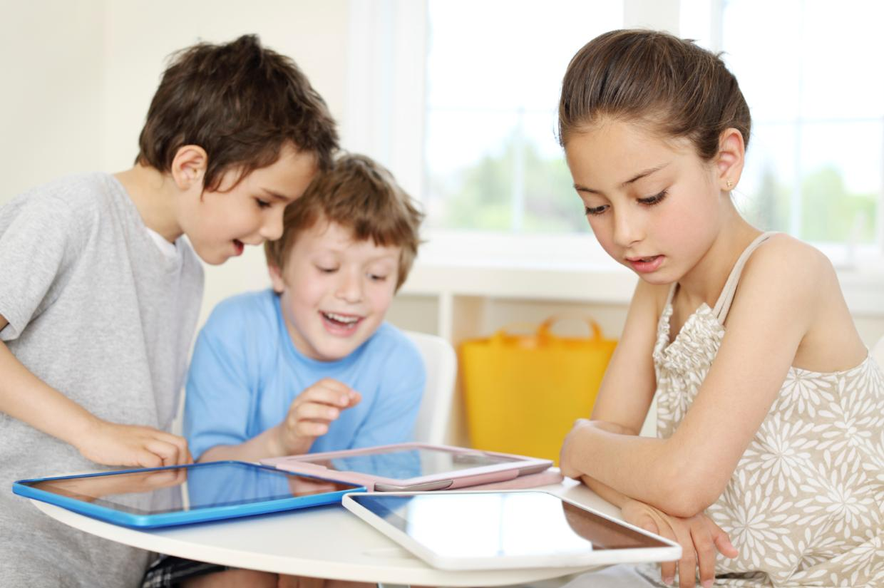 Three Children Reading Funny Kids Downloaded eBook Online