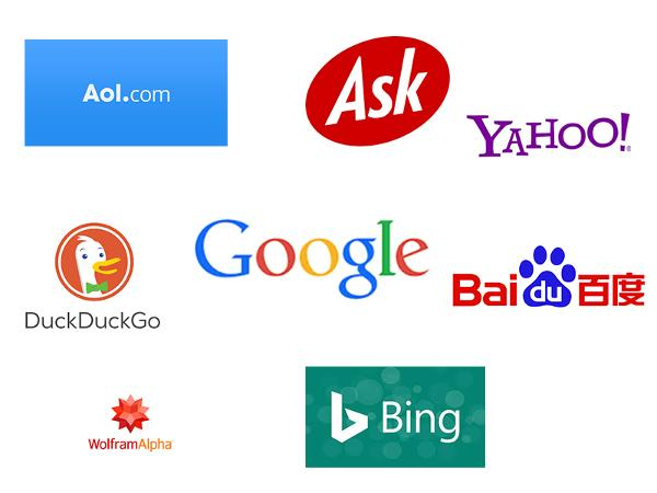 Various Search Engine Logos